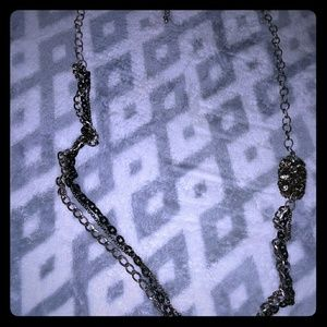AEO Two Tone Rhinestone Chain link Necklace